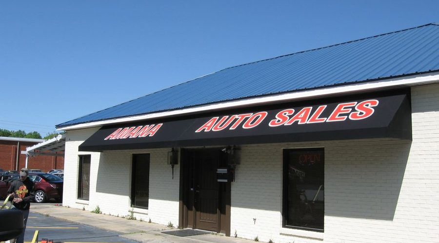 Amana Auto Sales Awning