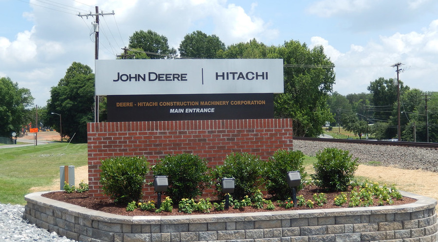 Deere Hitachi Monument Sign