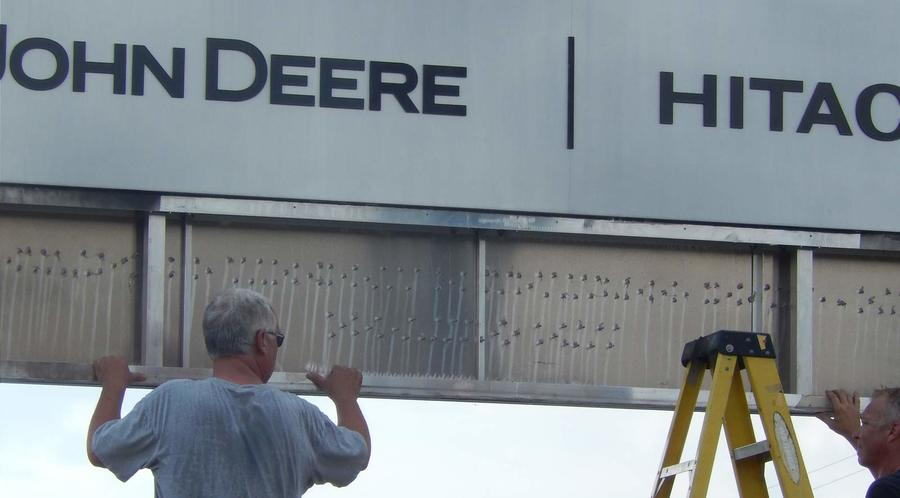 Installation of monument sign 2
