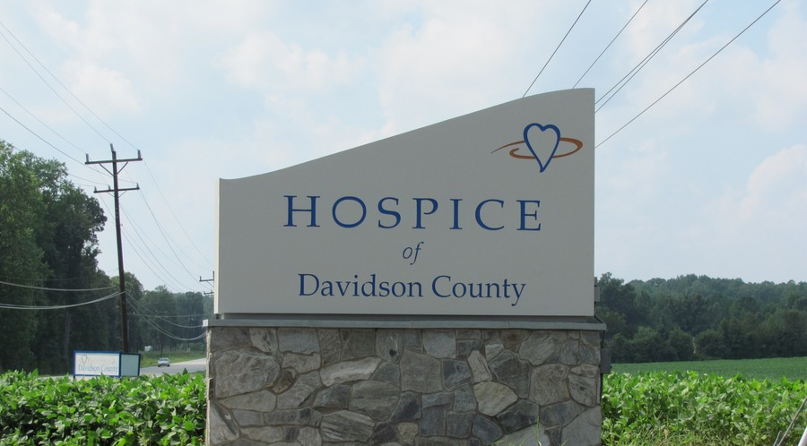 Hospice Davidson County Monument sign