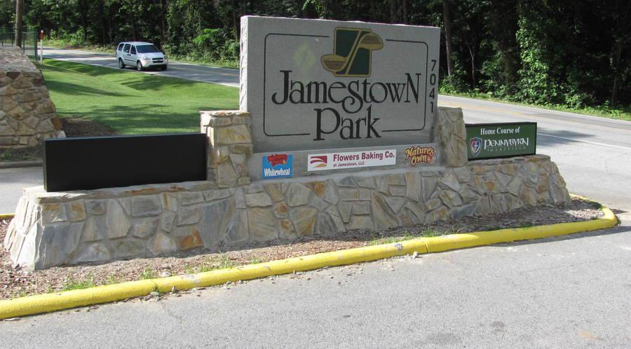 Jamestown Park Monument Sign