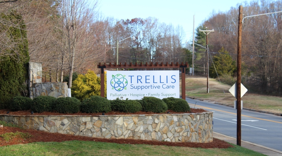 Trellis monument sign